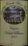 Spring Creek Wine Cellar-Vidal Blanc