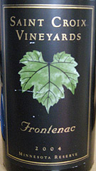 Saint Croix Vineyards Frontenac