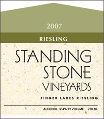 Standing Stone Vineyards-Riesling