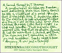 Stevens Winery-A Second Thought
