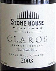 Stone House Vineyard Claros