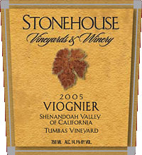 Stonehouse Vineyards and Winery-Viognier