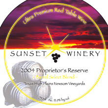 Sunset Winery-Proprietors Reserve