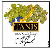 Tanis Vineyards-Syrah