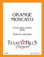 Texas Hills Vineyard Orange Moscato