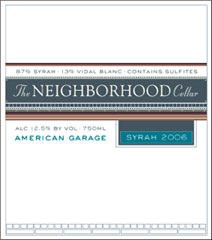 The Neighborhood Cellar-American Garage