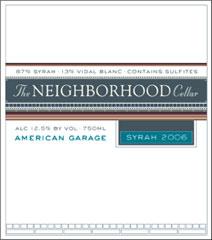 The Neighborhood Cellar-American Garage
