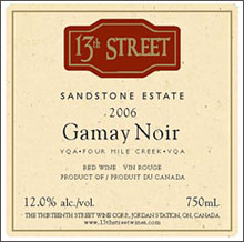 Thirteenth Street Winery-Gamay Noir