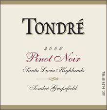 Tondre Wines - Pinot Noir
