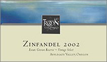 Troon Vineyard zinfandel