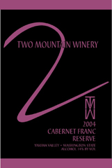 Two Mountain Winery-Cab Franc Reserve