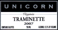 Unicorn Winery-Traminette