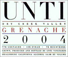 Unti Vineyards-Grenache