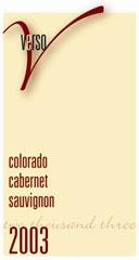 Verso Cellars-Cabernet Sauvignon