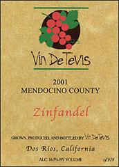 Vin de Tevis - Dos Rios AVA, Mendocino Wines