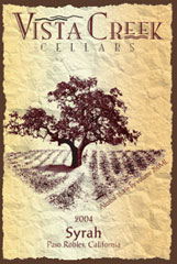 Vista Creek Cellars-Syrah