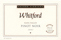 Whitford Cellars-Pinot Noir