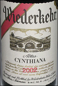 Wiederkehr Wine Cellars - Altus, Arkansas Cynthiana