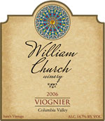 William Church Winery-Viognier