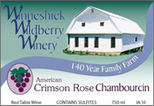 Winneshiek Wildberry Winery-Crimson Rose