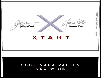 XTANT 2001 Napa Valley Red Wine