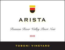 Arista Winery Pinot Noir