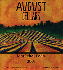 August Cellars Willamette Valley Marechal Foch