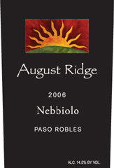 August Ridge Winery Nebbiolo