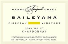 Baileyana Wine chardonnay