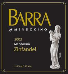 Barra of Mendocino Zinfandel