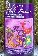 Black Mesa Winery Riesling