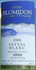 Blomidon Estate Winery Seyval Blanc