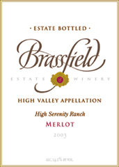 Brassfield Estate Winery Merlot