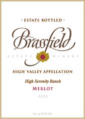 Brassfield Estate Winery Merlot