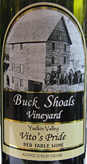 Buck Shoals Vineyard Red Wine
