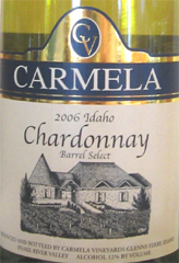 Carmela Vineyards Idaho Chardonnay