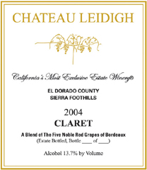 Chateau Leidigh Sierra Foothills Claret