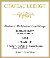Chateau Leidigh Sierra Foothills Claret