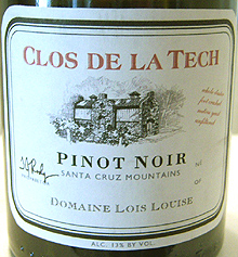 Clos de la Tech Winery Santa Cruz Mountains Pinot Noir