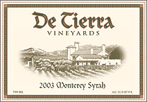 De Tierra Vineyards Syrah