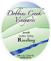 Dobbins Creek Vineyards Riesling