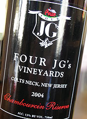 Four JG's Vineyards Chambourcin