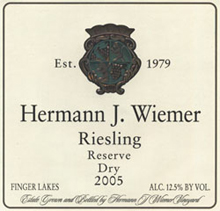 Hermann J. Wiemer Vineyard Riesling