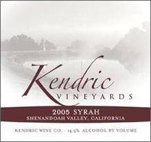 Kendric Vineyards-Syrah