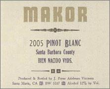Makor Bien Nacido Pinot Blanc