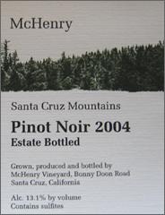 McHenry Vineyard Pinot Noir