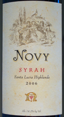 Novy Family Wines - Santa Lucia Highlands Syrah