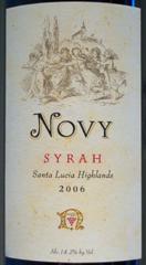 Novy Family Wines - Santa Lucia Highlands Syrah