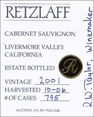 Retzlaff Estate Cabernet Sauvignon