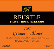 Reustle Prayer Rock Vineyards Gruner Veltliner